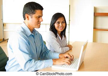 Asian And Hispanic Business Meeting