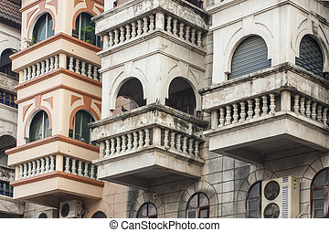 Asian architecture of building