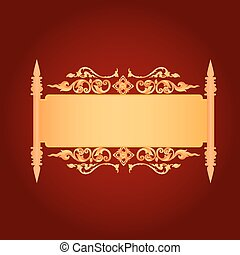 Asian Art Background, Thai art pattern vector for cover design,