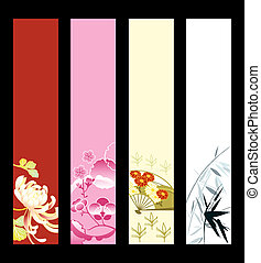 Asian art banners - Asian art banner or sider backgrounds. ...