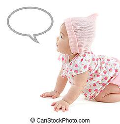 Asian baby girl announcement