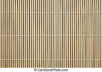 bamboo mat - Asian bamboo mat background image, close up.