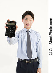Asian bank teller