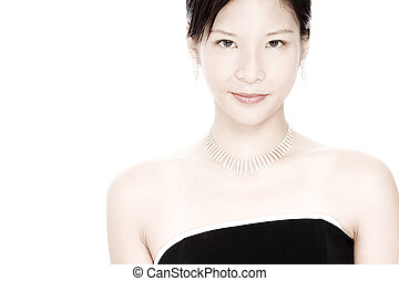 A beautiful young asian woman (some desaturation)