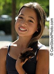 Asian beauty - Asian beautiful girl on a sunny day