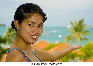 asian beauty at the sea