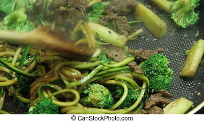 asian beef and broccoli stir-fried - asian beef and broccoli...