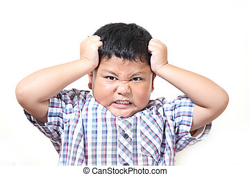 Asian boys feel stressed and fatigued