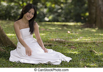 Asian Bride Outdoors 2