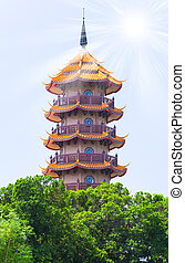 Asian Building ancient chinese pagoda