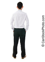 asian business man back view