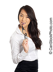 Asian Business Woman glasses