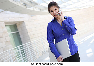 Asian Business Woman with Computer