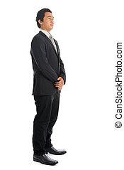 Asian businessman side view