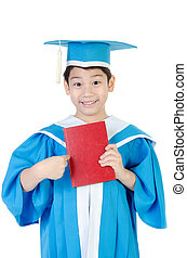 Asian Child with red book