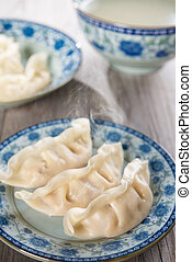 Asian Chinese dish fresh dumplings