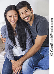 Asian Chinese Man Woman Couple