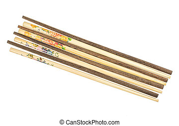 Asian chopsticks isolated on white
