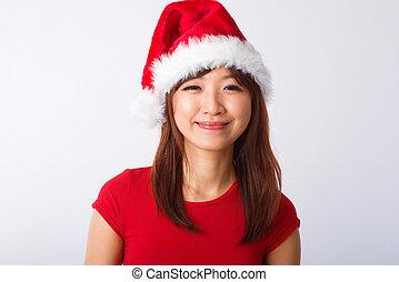 Asian Christmas girl portrait