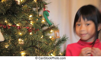 Asian Christmas Ornament - A cute little 5 year old Thai...