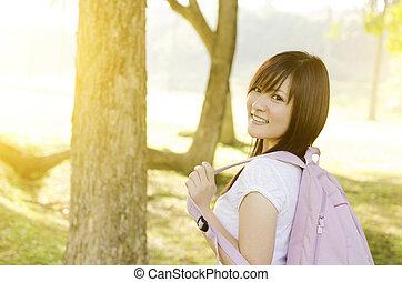 Asian college student portrait