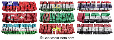 Asian countries (From T to Y) flag words