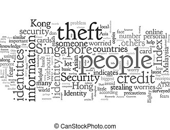 Asian Countries Worried About Identity Theft text background wordcloud concept