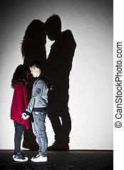 Asian couple on street