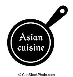Asian cuisine stamp