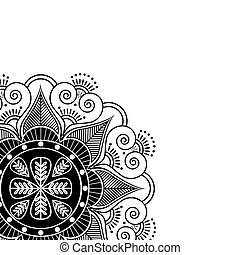Asian culture inspired wedding makeup mandala henna tattoo...