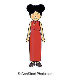 asian cute woman ethnicity character