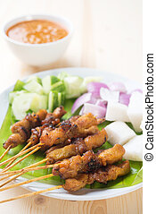 Asian delicacy chicken satay