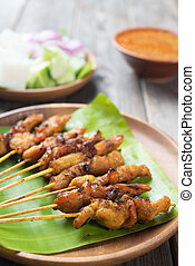 Asian delicious chicken sate