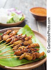 Asian delicious chicken sate