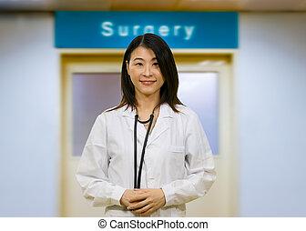 Asian doctor in hospital