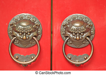 Asian Door Handles - Chinese Door way with Handles and...