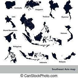 Southeast Asia map - Asian Economic Community, Association...