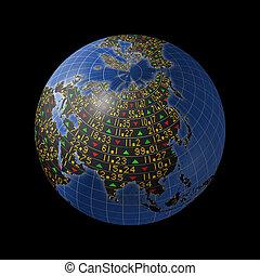 Asian economy as stock market - World economies with stock...
