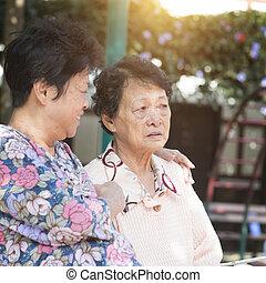 Asian elderly women