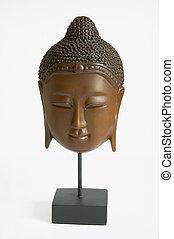 asian face mask - a wooden asian face mask