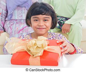 Asian family birthday present