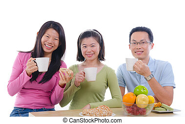 asian family dining