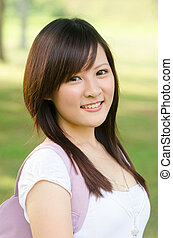 asian female college girl