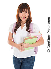 Asian female college student
