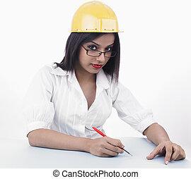 asian female engineer