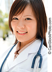 asian female medical student