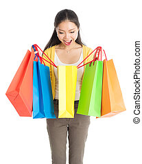 Asian female shopper