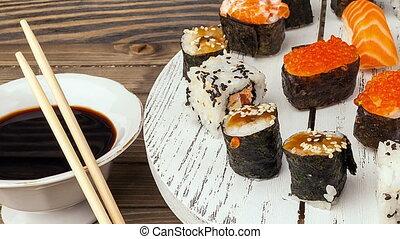 Asian food and sushi. - the Asian food and sushi