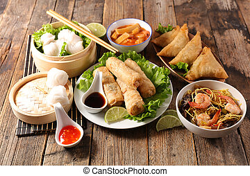 asian food assorted