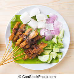 Asian food chicken satay